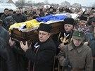 Pohřeb zabitého demonstranta na západě Ukrajiny (27. ledna 2013)