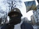 V Kyjevě panuje tuhý mráz, odpůrce prezidenta Janukovče však hřeje revoluční...