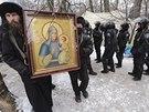 Protivládní protesty podporuje i řada pravoslavných a řeckokatolických kněží...