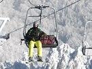 Nová lanovka na Telnici láká lyžaře i lidi, kteří se na vrchol nechají vyvézt...