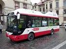 Nový elektrobus Siemens-Rampini, který zkouší pražský dopravní podnik...