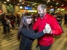 Na hlavním nádraží se za značného zájmu přihlížejících tančilo argentinské...