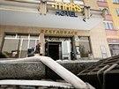 Po hav�rii horkovodu museli hasi�i od�erpat vodu z n�kolika budov na Kub�nsk�m...