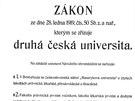 Tím to všechno začalo. Brněnská Masarykova univerzita slaví 95 let od založení.