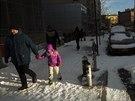 New York zasypaly v uplynulých dnech desítky centimetrů sněhu. Způsobovaly...