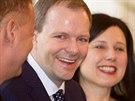 Nov� ministr �kolstv� Marcel Chl�dek p�i jmenov�n� kabinetu premi�ra Bohuslava