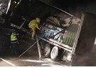 Na dálnice D1 u Říčan na Brněnsku havaroval kamion, který převážel kyselinu