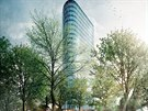 Firma Tweelingen usiluje o stavbu třiadvacetipatrového věžáku u Litochlebského...