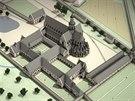 Takhle vypadal klášter na počátku 14. století, kdy vzkvétal díky objevu ložisek...
