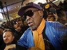 Dennis Rodman po návratu z KLDR (13. ledna 2014)
