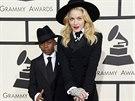 Madonna a její syn David oblékli oba oblek od Ralpha Laurena.