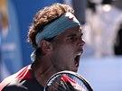 KONE�N�. Rafael Nadal ve �tvrtfin�le Australian Open.