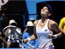 JSEM PROSTĚ DOBRÁ. Agnieszka Radwaňská po vítězství  ve čtvrtfinále Australian