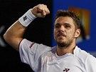 FINALISTA. Stanislas Wawrinka po v�t�zstv� v semifin�le Australian Open.