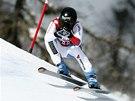 Lara Gutov� v superob��m slalomu v Cortin� d'Ampezzo.