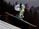 Maria H�flov�-Rieschov� v superob��m slalomu v Cortin� d'Ampezzo.