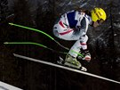 Anna Fenningerov� v superob��m slalomu v Cortin� d'Ampezzo.