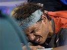 BOLEST. Rafael Nadal ve finále Australian Open.