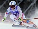 Tina Weiratherová v superobřím slalomu v Cortině d'Ampezzo.