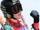 Lara Gutová v superobřím slalomu v Cortině d'Ampezzo.
