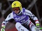 Anna Fenningerá v superobřím slalomu v Cortině d'Ampezzo.