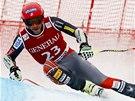 Bode Miller na trati superobřího slalomu v Kitzbühelu.