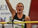 Švédská výškařka Emma Greenová-Tregarová na Beskydské laťce.
