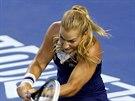 Slovensk� tenistka Dominika Cibulkov� ve fin�lov�m duelu Australian Open s...