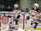 Chomutovští hokejisté krátce po inkasovaném gólu.