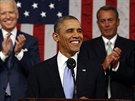 Barack Obama přednesl každoroční poselství o stavu unie (29. ledna 2014).
