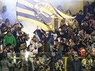 Litvínovští fanoušci během extraligového utkání s Pardubicemi.