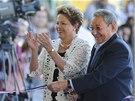 Brazilská prezidentka Dilma Rousseffová a její kubánský protějšek Raúl Castro