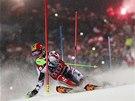 Rakouský slalomář Marcel Hirscher skončil ve Schladmingu druhý o 18 setin