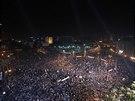 N�m�st� Tahr�r v K�hi�e, symbol revoluce z roku 2011, se op�t zaplnilo. (Egypt,...