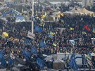 Na kyjevsk�m n�m�st� Nez�vislosti st�le stoj� stany opozi�n�ch demonstrant�...