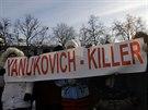 Někteří z demonstrantů mají jasno. Za oběti na životech podle nich může...