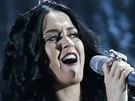 Katy Perry při vystupení s písní Dark Horse (Grammy 2013)