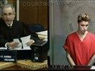 Justin Bieber u soudu (23. ledna 2014)