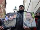 Smuteční průvod na připomenutí obětí protivládních demonstrací na Ukrajině