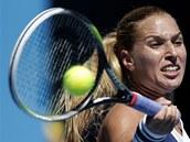 SOUSTŘEDĚNÍ. Dominika Cibulková ve čtvrtfinále Australian Open.