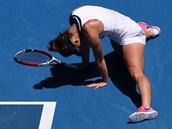 ZMAR. Simona Halepová ve čtvrtfinále Australian Open.