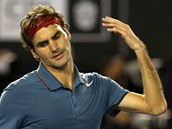 GESTO ZMARU. Roger Federer v semifinále Australian Open.