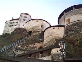 Pevnost nad Kufsteinem ze 13. století sloužila ve středověku jako vězení.