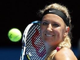 TOHLE SI VYCHUTNÁM. Viktoria Azarenková v osmifinále Australian Open.