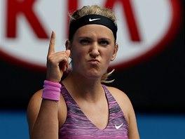 SE MNOU SE MUSÍ POČÍTAT. Viktoria Azarenková v osmifinále Australian Open.