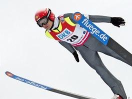 Pavel Churav� p�i z�vod� Sv�tov�ho poh�ru v Oberstdorfu.