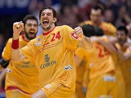Španělská radost v podání De Argily po vítězství v zápasu o bronz na ME.