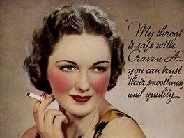 V reklamách na cigarety se před rokem 1964 tabákové firmy neváhaly odkázat na...