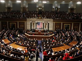 Společná schůze obou komor Kongresu ve Washingtonu