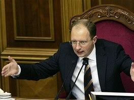 Předseda ukrajinského parlamentu Arsenij Jaceňuk (17. září 2008).